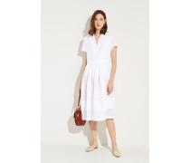 Leinen-Kleid Weiß