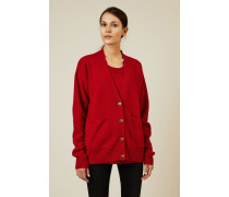 Woll-Cashmere-Twinset Rot - Cashmere