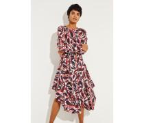 Seiden-Kleid mit Print Multi