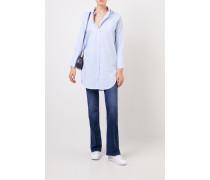 Lange Bluse mit Streifenmuster Blau/Multi