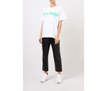 T-Shirt 'Bar Italia' Weiß/Grün
