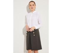 Seiden-Bluse 'Essential' Weiß