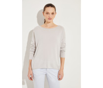 Oversize Cashmere-Pullover 'Cayo' Grau