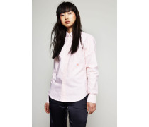 Bluse 'Ohio Face' Off White/Pink - 100% Baumwolle