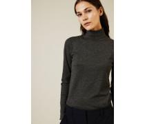 Cashmere-Rollkragenpullover mit Lurexdetails Grau - Cashmere