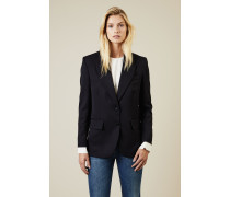 Wollblazer 'Ingrid' Blau