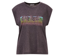 T-Shirt mit Print ohne Ärmel Grau