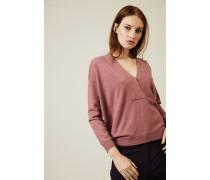 Oversized Cashmere-Pullover mit Perlenverzierung Rosenholz - Cashmere