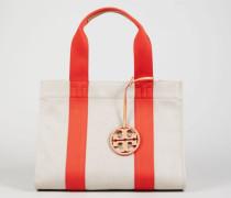 Handtasche 'Miller Canvas' Natural/Poppy Red