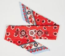 Bandana mit Perlen-Details Rot/Multi - 100% Baumwolle