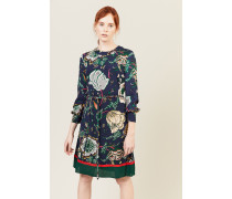 Kleid 'Maren' mit floralem Print Blau/Multi