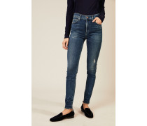 High Rise Skinny 'Rocket' Blau
