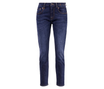 Mid-Rise Skinny-Jeans 'Boy' Dunkelblau