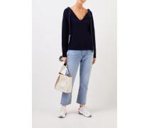 Cashmere-Pullver mit Bindedetail Marineblau