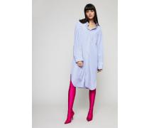 Oversize Hemdblusenkleid Blau/Weiß - 100% Baumwolle