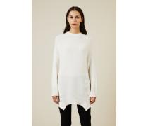 Oversize Cashmere Pullover Crèmeweiß -