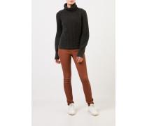 Cashmere-Pullover 'Seille' mit Rollkragen Dunkelgrün