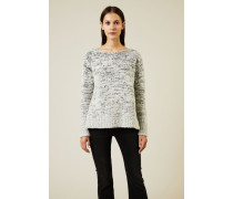 Woll-Pullover Grau - Cashmere