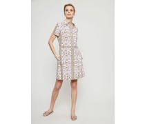 Hemdblusenkleid mit Print Multi - 100% Baumwolle