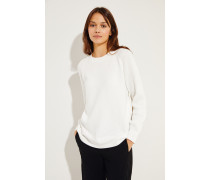 Baumwoll-Pullover Weiß