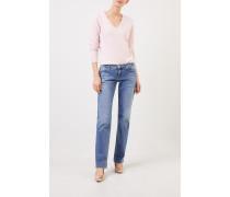 Jeans 'Loana' mit Waschung Hellblau