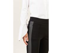 Stretchhose 'Ania' mit seitlichen Streifen Schwarz