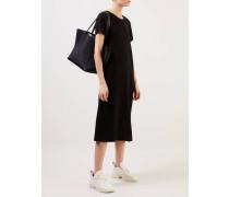 Cashmere-Kleid mit T-Shirt-Ärmeln