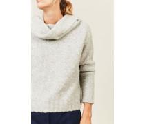 Off-Shoulder Pullover Grau - Alpaca