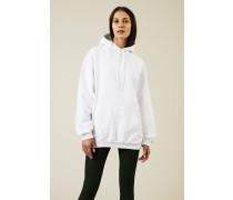 Oversized Hoodie mit Logo-Schriftzug Weiß - 100% Baumwolle