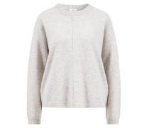 Cashmere-Mix Pullover mit Rundhalsausschnitt Grau