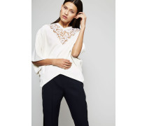 Pullover mit Lace-Detail Avoria - Seide