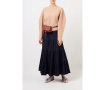 Ausgestellter Jeansrock Blau 98% Baumwolle - 2% Elasthan Futter: -