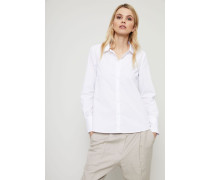 Baumwoll-Bluse 'Amelia' Weiß