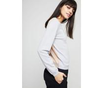 Zwiefarbiger Cashmere-Pullover 'Jazzy' Grau - Cashmere