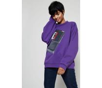 Sweatshirt 'Flames Capsule' Purple - 100% Baumwolle