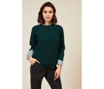Grobgestrickter Pullover Grün - Cashmere