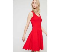 Stretch-Kleid mit floralem Motiv Rot