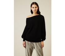 Oversize Cashmere Pullover Schwarz - Cashmere