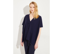 Oversize Woll-Tunika 'Milano' Marineblau