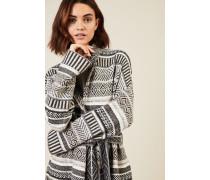 Cashmere-Woll-Cardigan Grau/Multi