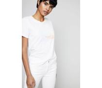 T-Shirt mit Print Weiß/Multi - 100% Baumwolle