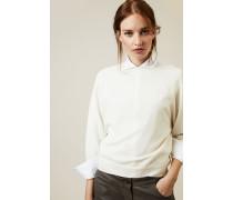 Cashmere-Pullover mit Rückenausschnitt Weiss - Cashmere