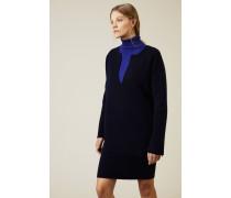 Double-Face Cashmere Pullover 'Dalma' Navy/Royalblau - Cashmere