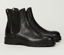 Chelsea-Boots Schwarz - Leder