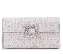 Clutch 'Envelope Flap Flower Buckle' Silber