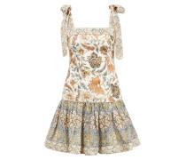 Kurzes Leinen-Kleid 'Edie' mit Paisleymuster Crème/Multi