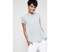 Woll-Cashmere Pullover Kurzarm Khaki