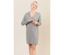 Cashmere-Woll-Kleid Grau