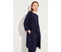 Woll-Cardigan mit Schlitzen Marineblau
