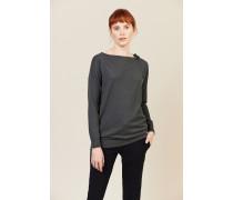 Cashmere Pullover mit Bindedetail Grün